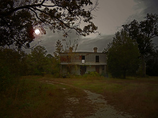 The Halloween or Harvest Moon at the Old Davis House: Davistown, Edgecombe County, NC