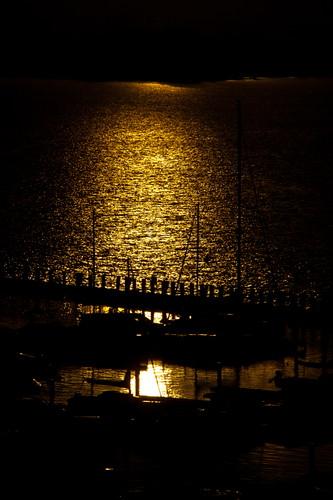orange lake black reflection water sunshine silhouette yellow sailboat marina sunrise reflections boats gold dawn golden pier boat glow piers lakes silhouettes glowing sunrises sailboats goldenhour breakwater marinas dawns breakwaters