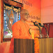 Swami Atmapriyananda, Vice-Chancellor, Ramakrishna Mission Vivekananda University, during the Valedictory Session at the Inter-faith Meet held at the Ramakrishna Mission, Delhi.
