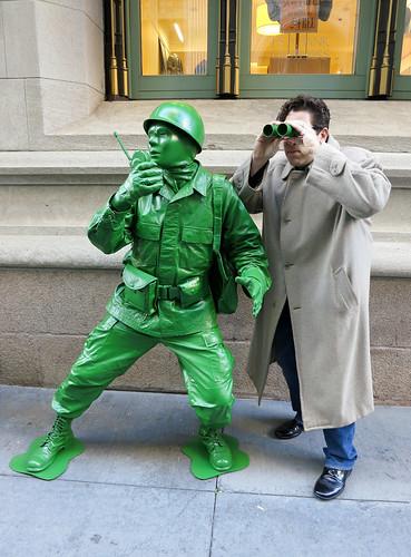 Plastic Toy Green Army Man