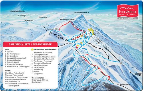 Feuerkogel - mapa sjezdovek
