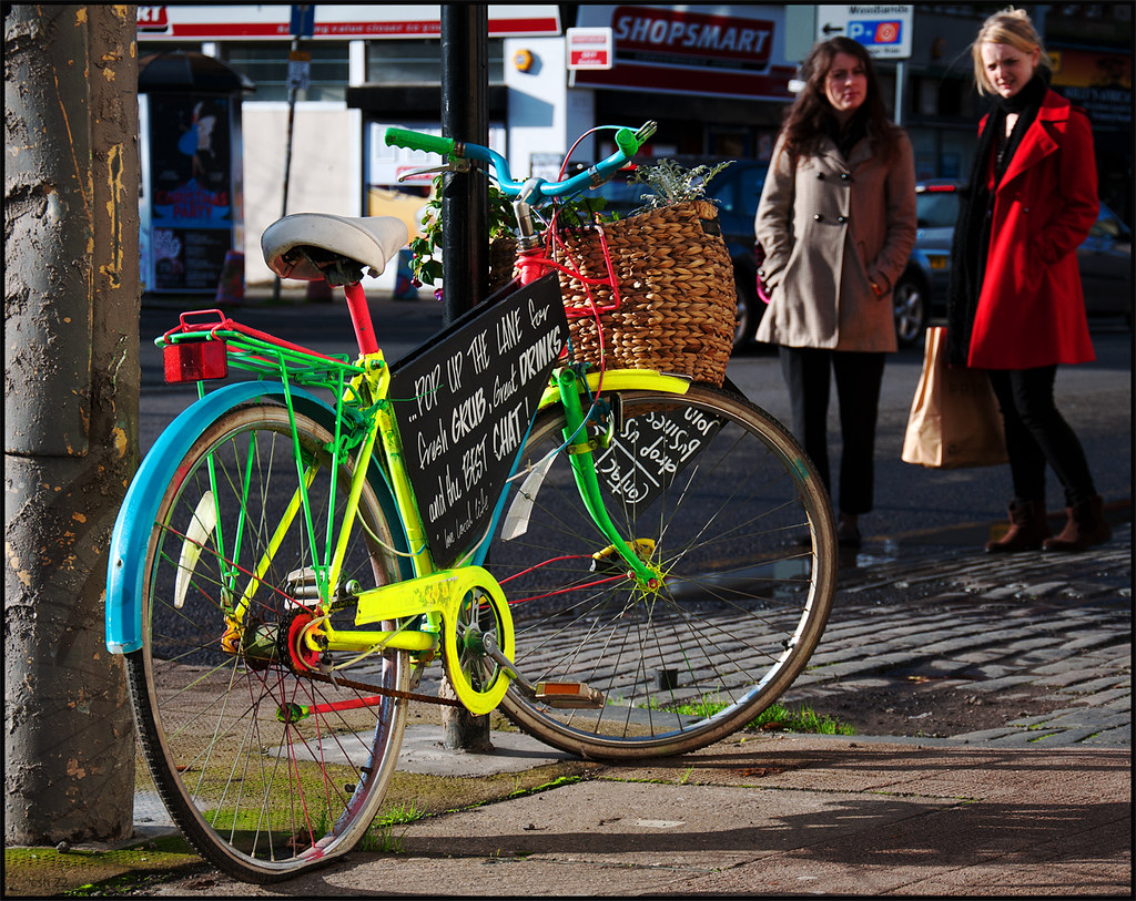Coloured bicycle
