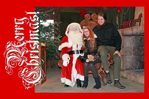Bert and I with Santa