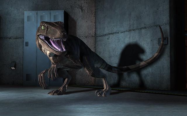 The Thunder Lizards of Jurassic Park: The Game - Raptor Hallway