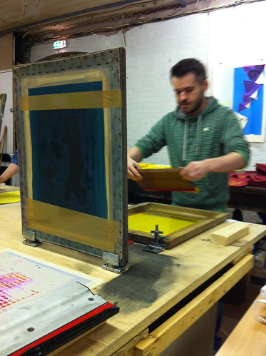 Carwyn Lloyd Jones - Screen printing