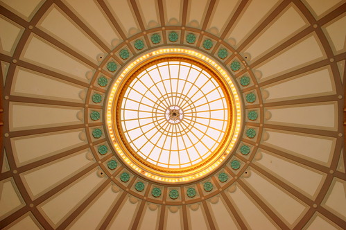 The Dome ceiling inside the Chattanooga Choo Choo