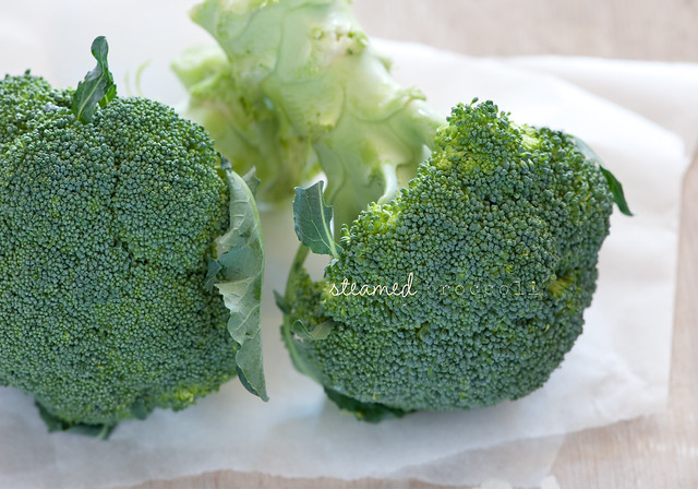 steamed broccoli with lemon zest