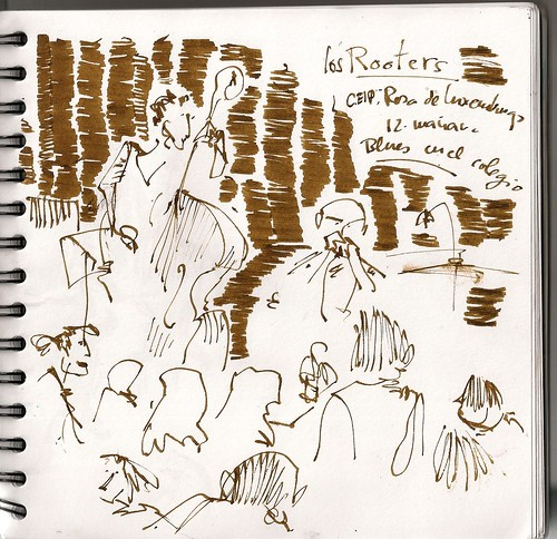 Los rooters por Aravaca; Madrid