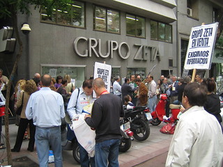 Portesta por los despidos en Gruipo Zeta
