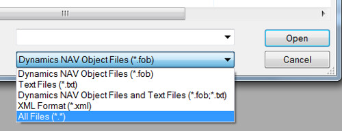 Import Objects from FBK - File of type - All Files
