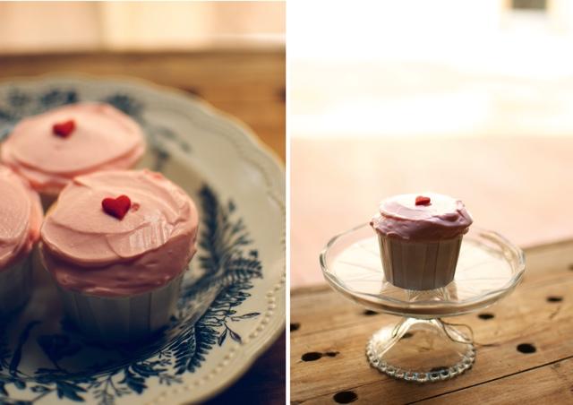 white vanille cupcakes