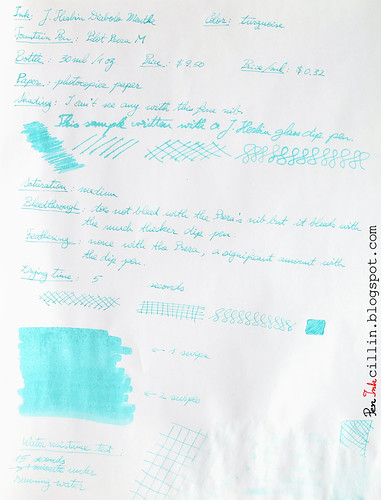 J Herbin Diabolo Menthe on photocopy