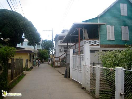 Utila Bay Island Main Street Honduras