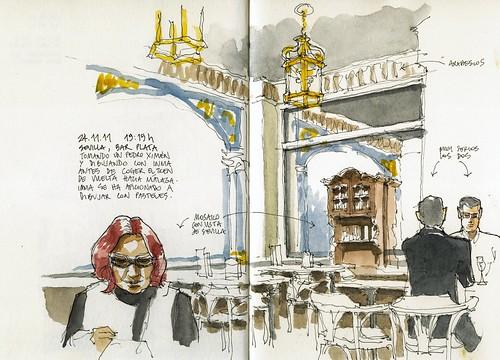 Sevilla, bar Plata with Inma