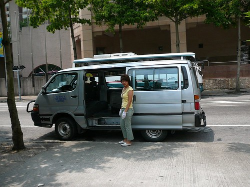 Our tour bus and driver - we were afraid she was going to leave us