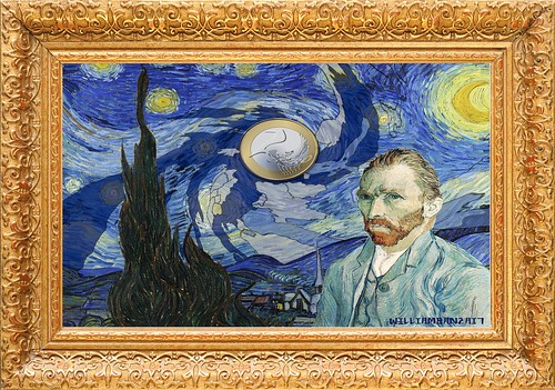 STARRY EURO (Happy Birthday Van Gogh) by Colonel Flick