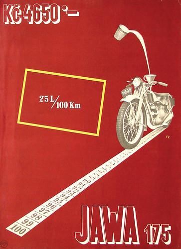 Jawa 175. Poster by František Zelenka. 1930s