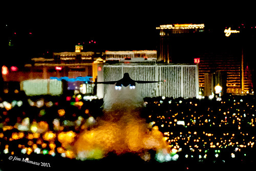 B-1B NIGHT TAKEOFF NELLIS AFB