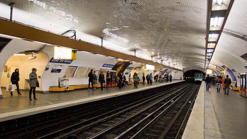 Paris Metro Gare du Nord Station