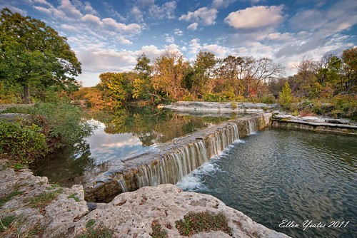 morning autumn sky reflection tree fall water creek sunrise canon austin river landscape waterfall rocks texas wideangle hdr brushy brushycreek ellenyeates