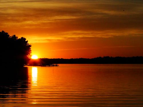 autumn sunset orange lake minnesota