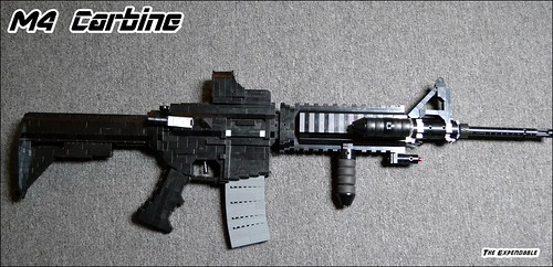 Lego Guns Highlight - M4 Carbine by The Expendable - BrickWarriors