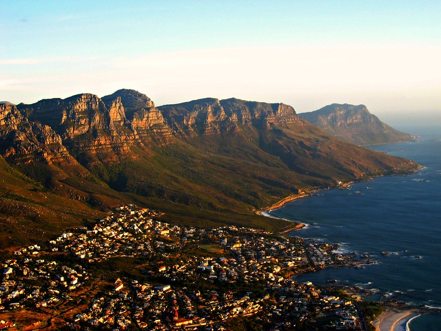 seven sisters, from lion's head, cape town, south africa