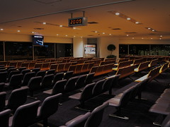 movie theater(0.0), convention(0.0), function hall(0.0), academic conference(0.0), theatre(0.0), auditorium(0.0), audience(0.0), meeting(0.0), room(1.0), conference hall(1.0), convention center(1.0),
