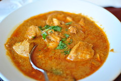 produce(0.0), laksa(0.0), curry powder(0.0), stew(1.0), curry(1.0), red curry(1.0), food(1.0), korma(1.0), dish(1.0), soup(1.0), cuisine(1.0), gulai(1.0), gumbo(1.0),
