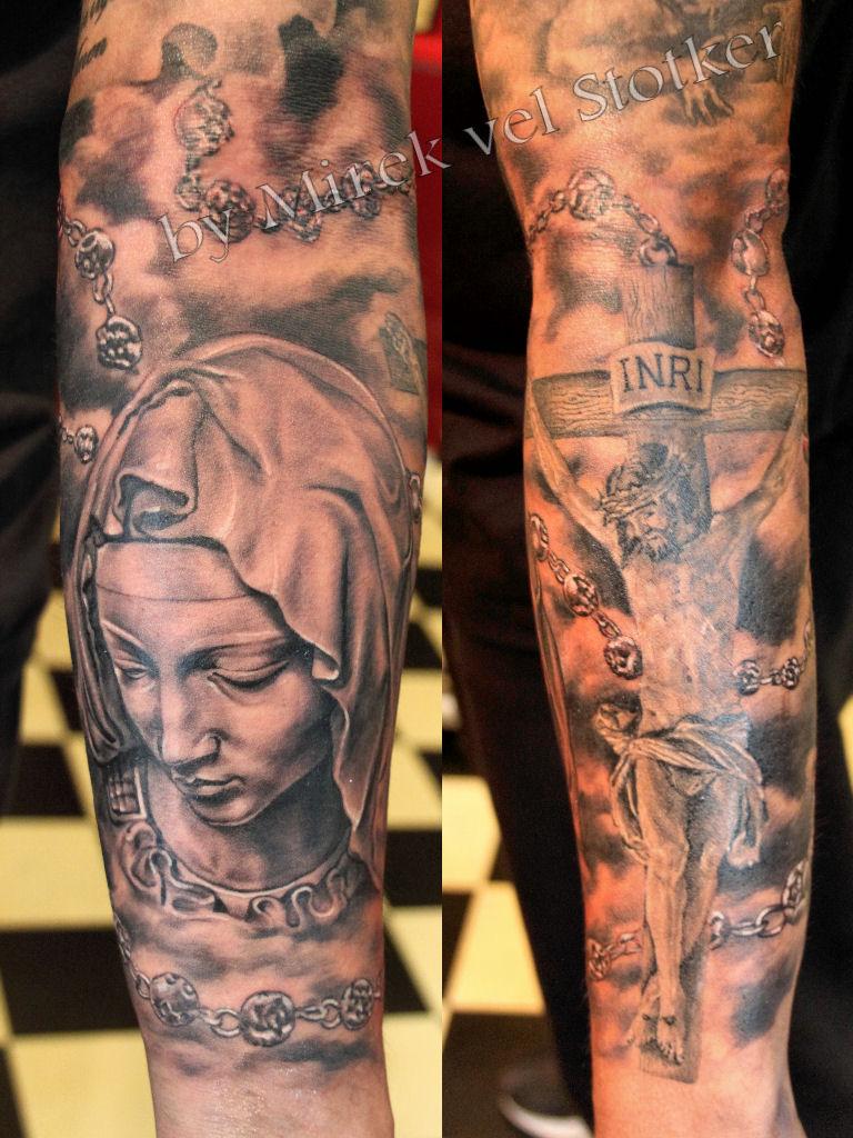 Pieta And Rosary Tattoo By Mirek Vel Stotker Stotker Flickr