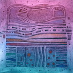 landcape within - collagraph print