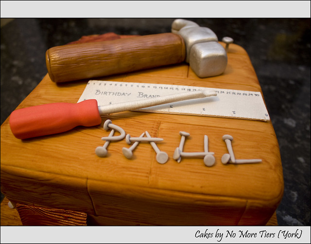 Detail from carpentry cake   Flickr - Photo Sharing!