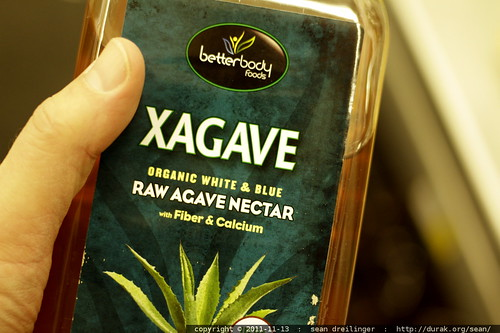$20 for a huge bottle of agave nectar    MG 1962
