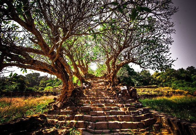 Steps to Wat Phu