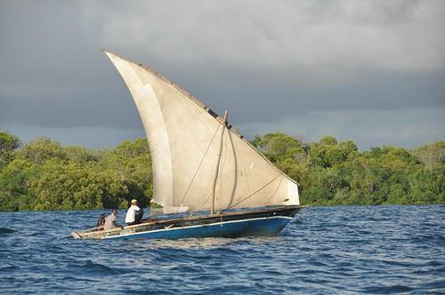 Dhow between the Quirimba islands