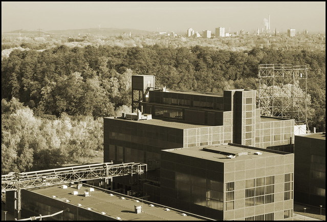Essen Germany Bauhaus Architecture Looking Down From