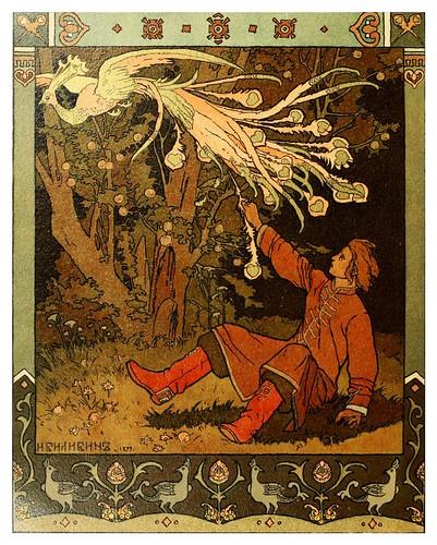 013-Los cuentos de de Iván zarevich, El pájaro de fuego y el lobo gris 1899- Ivan Jakovlevich Bilibin