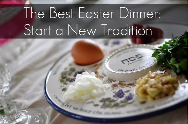 The Best Easter Dinner  {with a Free Printable}  {Start a Christian Tradition: Messianic Seder}