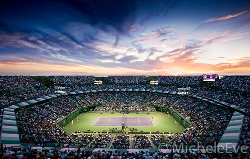 Sony Ericsson Open - Mens Semi Finals From Above