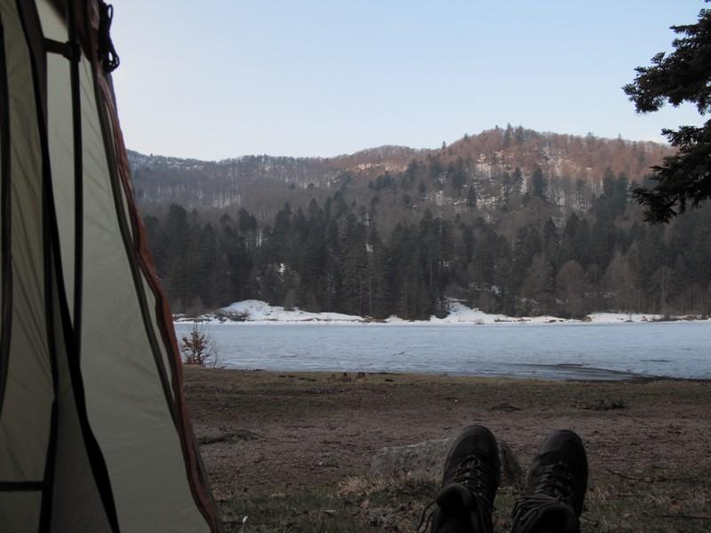 Bivouac au petit matin@Lac de Blanchemer