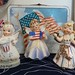 Vintage Patriotic July Birthday Angels