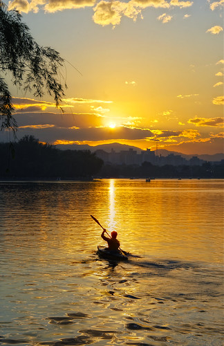 china sunset lake water nikon beijing rowing hdr d3s nikoncom nikkor28300mm