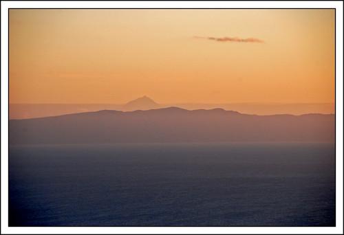 sunset landscape peak pico sãojorge terceira azores pds açores