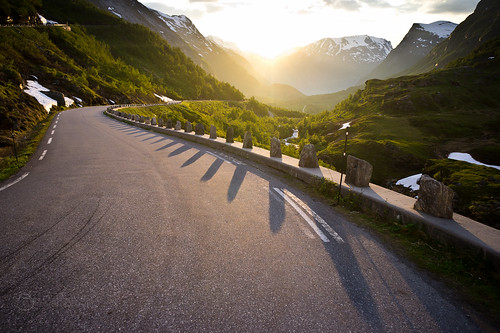 road sunset sun norway geiranger sony16mmf28