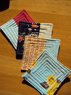 Quilted Fabric Coasters (side 1)