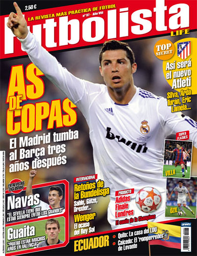Futbolista 97 portada - Real Madrid - Cristiano Ronaldo - Copa del Rey 2011 by FutbolistaDigital