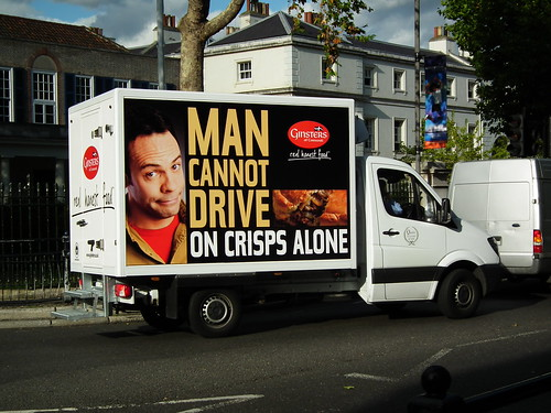 Man cannot drive on crisps alone