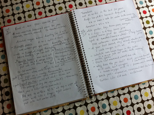 my cookbook notes on canning