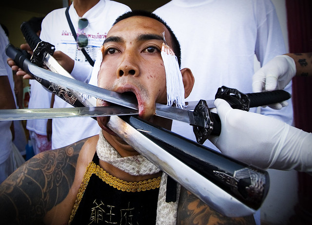 Extreme Piercing at the Phuket Vegetarian Festival
