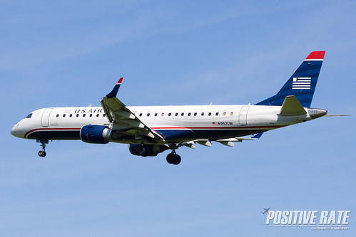 N952UW US Airways E-190